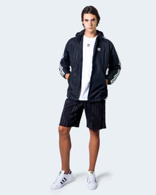 Felpa con cappuccio Adidas MONO Nero - Foto 2