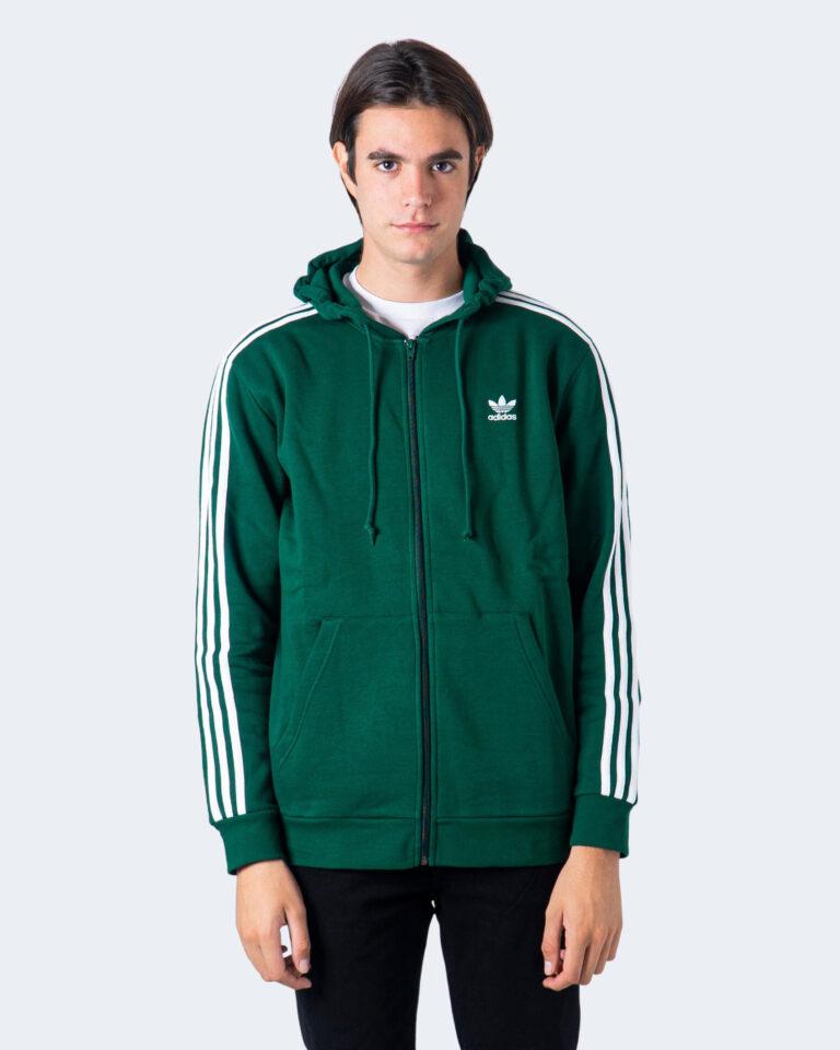 Felpa con cappuccio Adidas 3-STRIPES Verde - Foto 1