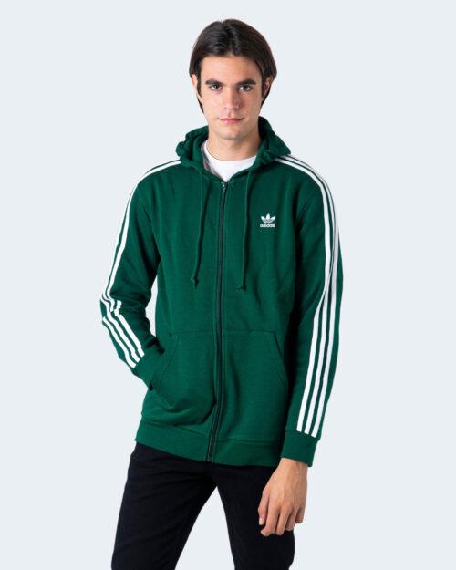 Felpa con cappuccio Adidas 3-STRIPES Verde - Foto 2