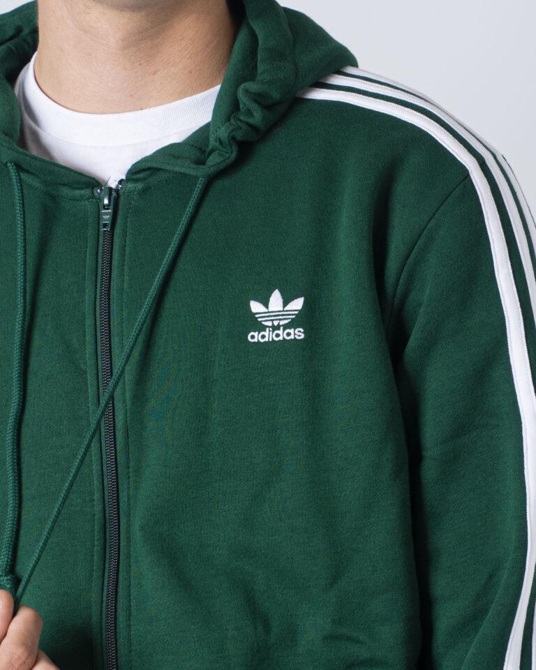 Felpa con cappuccio Adidas 3-STRIPES Verde - Foto 4
