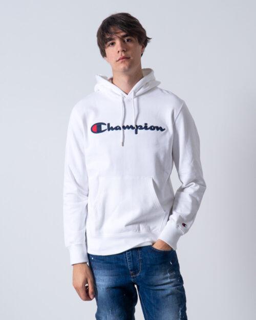 Felpa con cappuccio Champion Cappuccio Logo Bianco – 42532