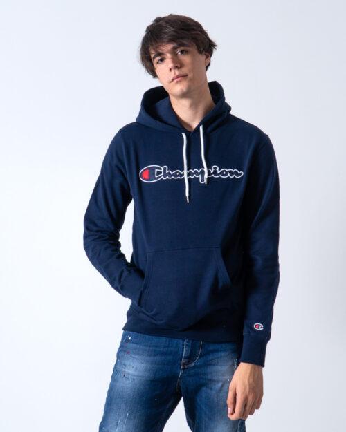 Felpa con cappuccio Champion Cappuccio Logo Blu – 42532