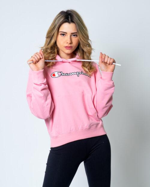 Felpa con cappuccio Champion Logo vintage Rosa – 42557
