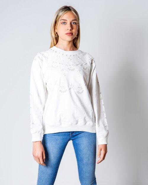 Felpa senza cappuccio Desigual SWEAT JEWEL Bianco – 52083