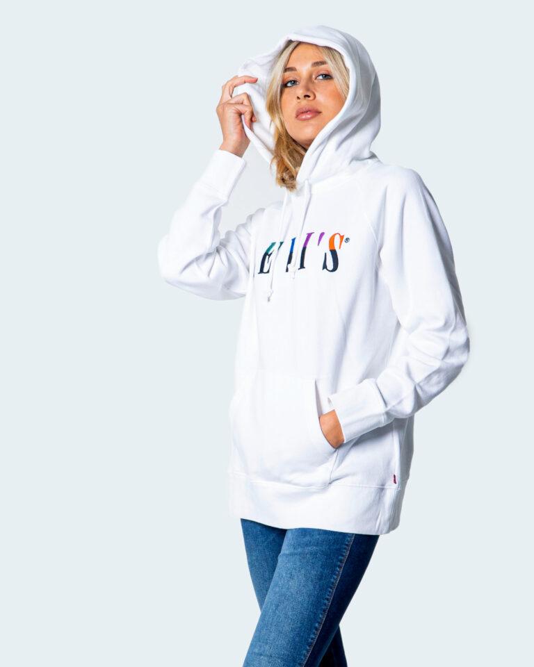 Felpa con cappuccio Levi's® GRAPHIC Bianco - Foto 3