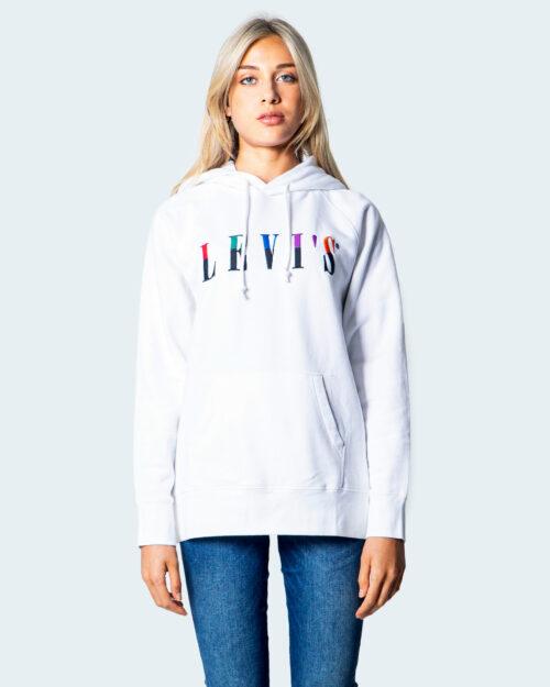 Felpa con cappuccio Levi's® GRAPHIC Bianco - Foto 4