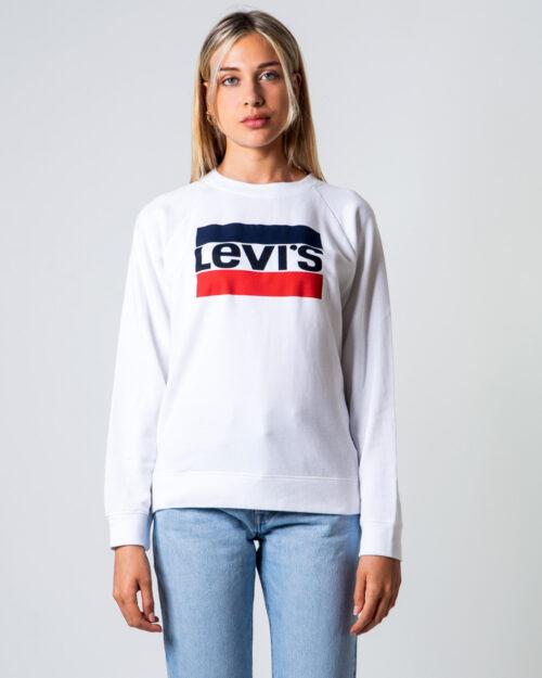 Felpa senza cappuccio Levi's® RELAXED GRAPHIC CREW – GOOD SPORTSWEAR Bianco – 53429