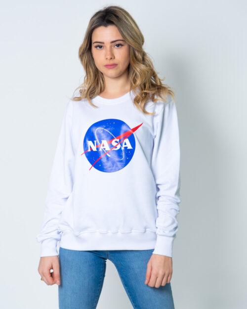 Felpa senza cappuccio Nasa Logo frontale Bianco – 42468