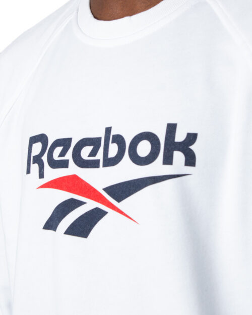 Felpa senza cappuccio Reebok Cl V Unisex Crew Garzata Bianco - Foto 3