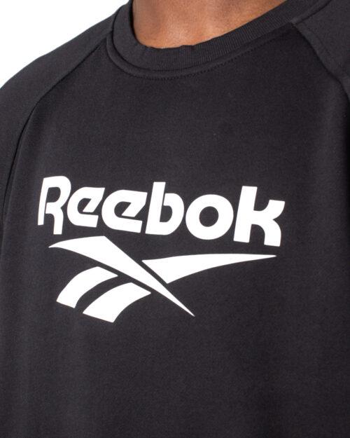 Felpa senza cappuccio Reebok Cl V Unisex Crew Nero - Foto 3