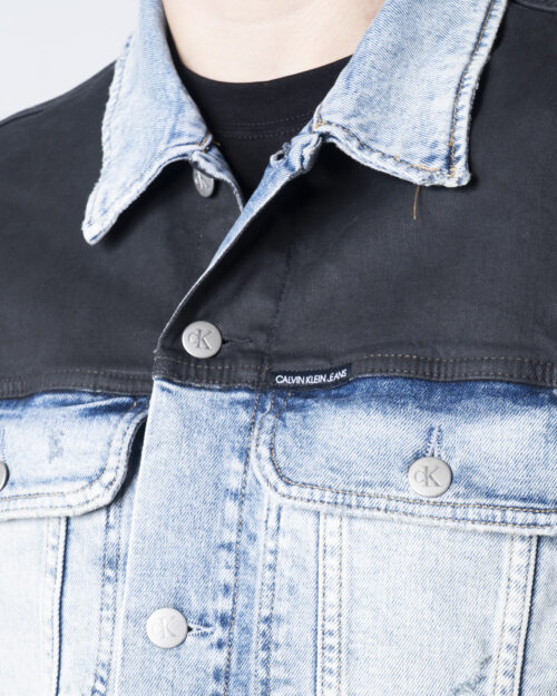 Giacchetto Calvin Klein Jeans 90S DENIM Denim chiaro - Foto 4