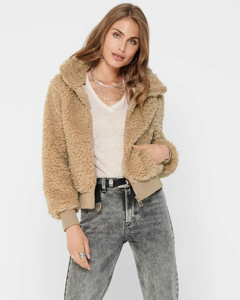 Cappotto Only SHERPA BOMBER JACKET Beige scuro - Foto 1