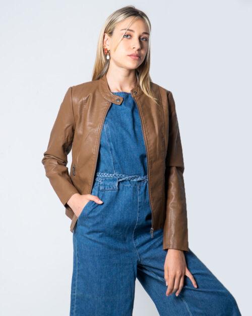 Giacchetto Only Melisa Faux Leather Jacket CC Otw Marrone - Foto 1