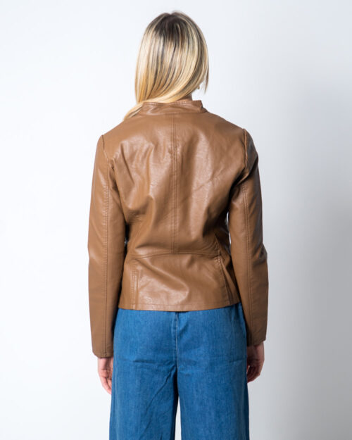 Giacchetto Only Melisa Faux Leather Jacket CC Otw Marrone - Foto 3