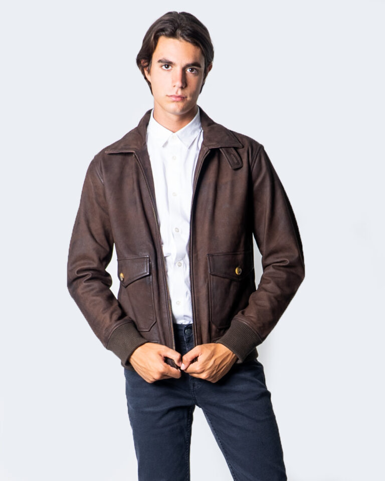 Giacchetto Only & Sons LAUST LEATHER JACKET Marrone - Foto 1