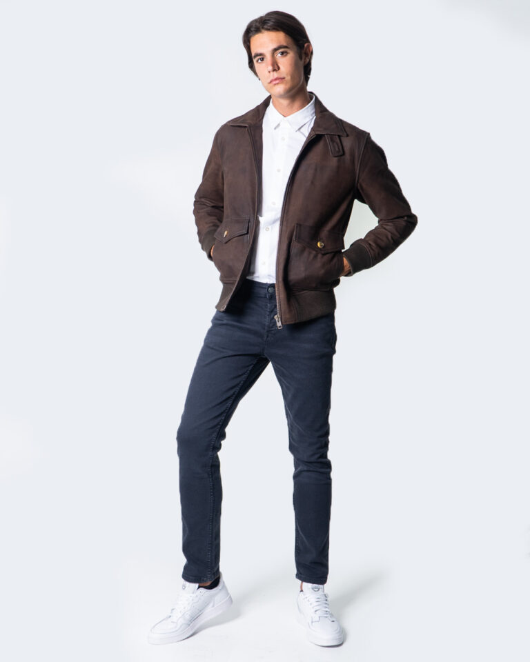 Giacchetto Only & Sons LAUST LEATHER JACKET Marrone - Foto 2