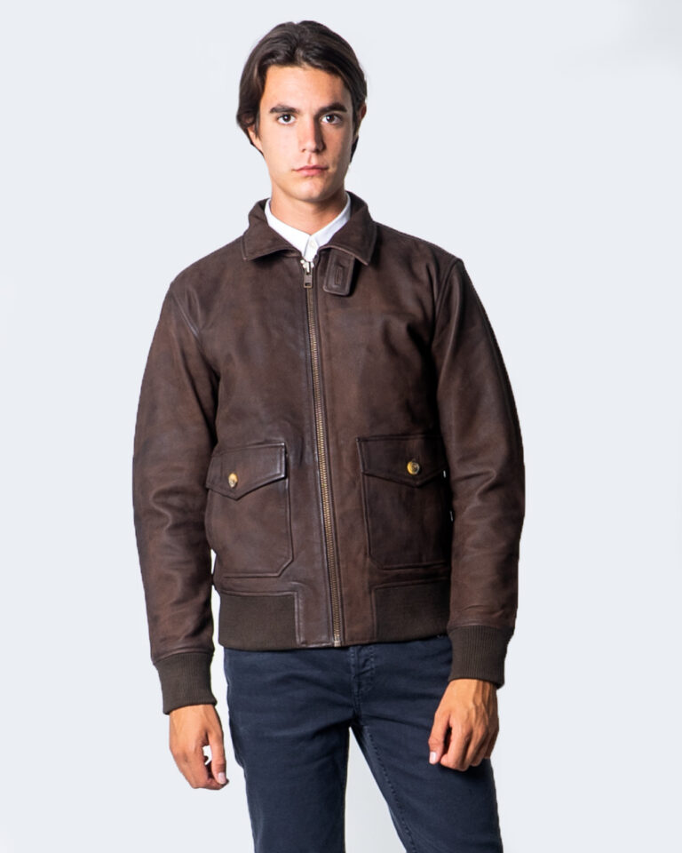 Giacchetto Only & Sons LAUST LEATHER JACKET Marrone - Foto 3
