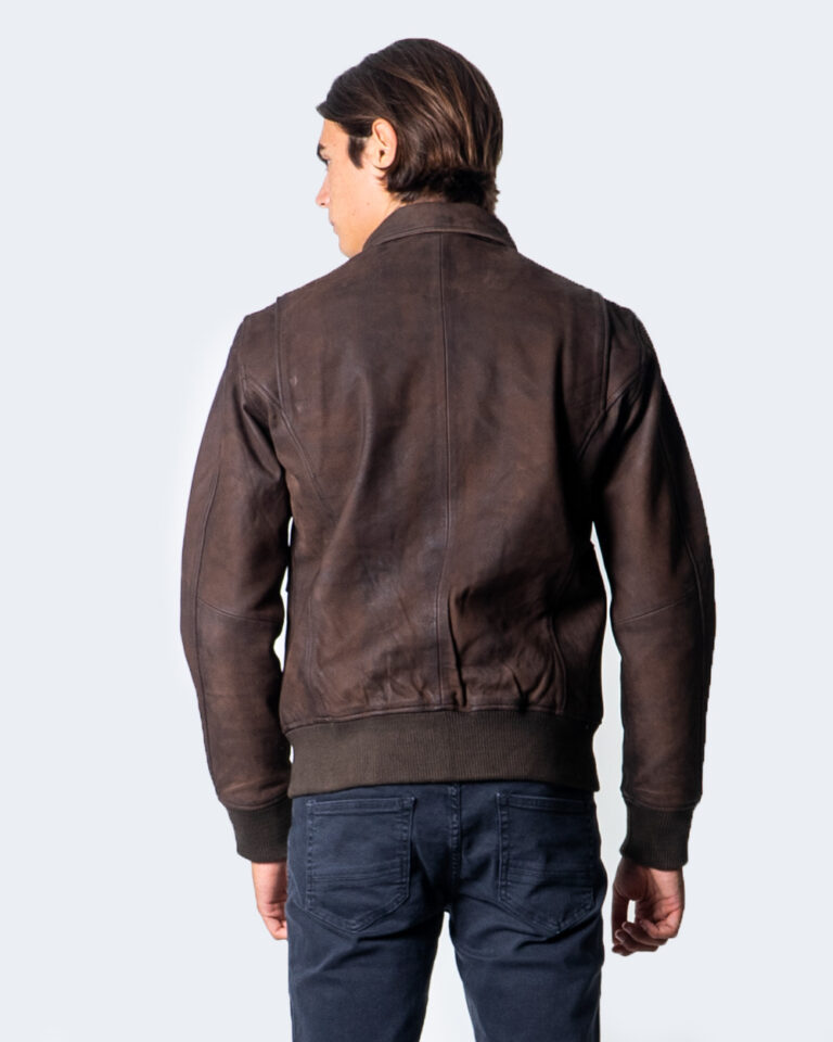 Giacchetto Only & Sons LAUST LEATHER JACKET Marrone - Foto 4