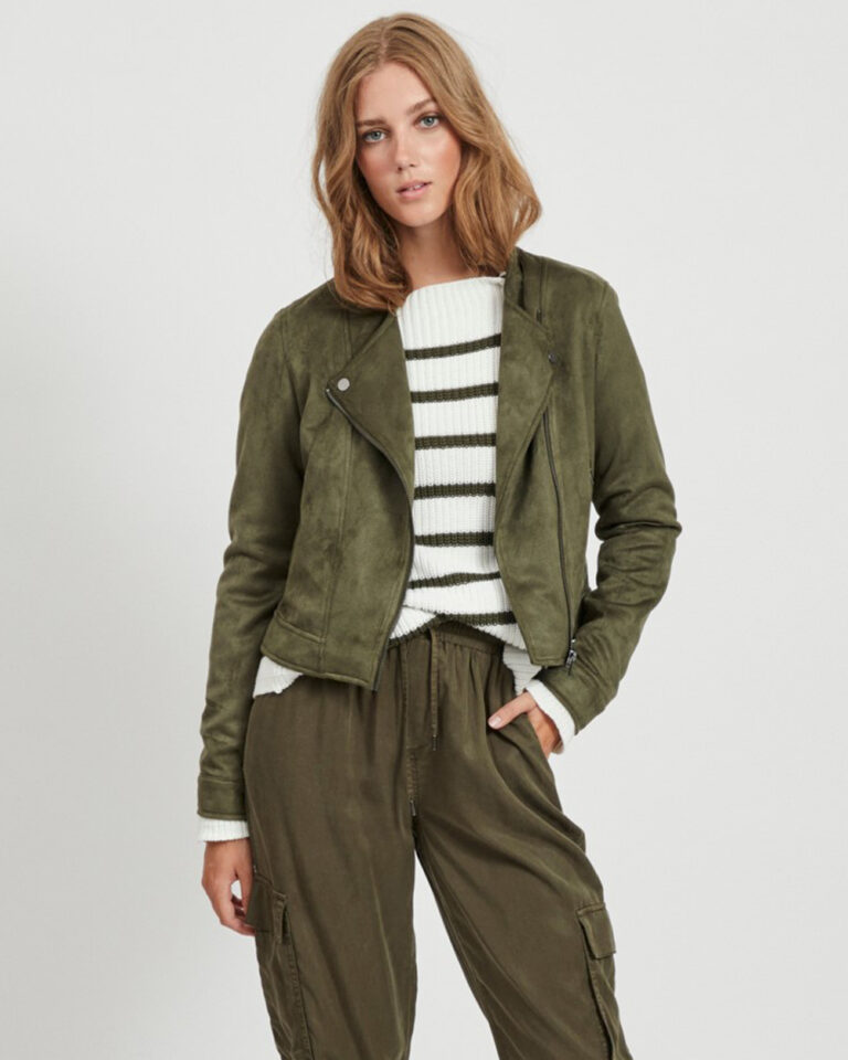 Giacchetto Vila Clothes Ghita Short jacket/tb Verde - Foto 1