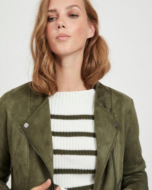 Giacchetto Vila Clothes Ghita Short jacket/tb Verde - Foto 3