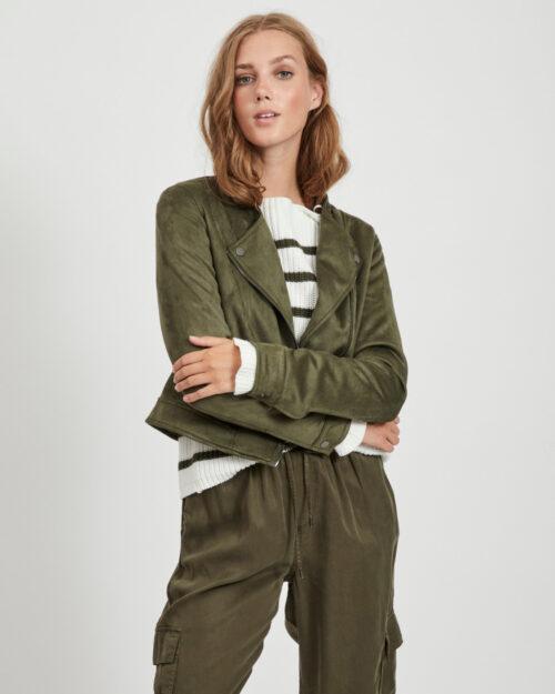 Giacchetto Vila Clothes Ghita Short jacket/tb Verde - Foto 4