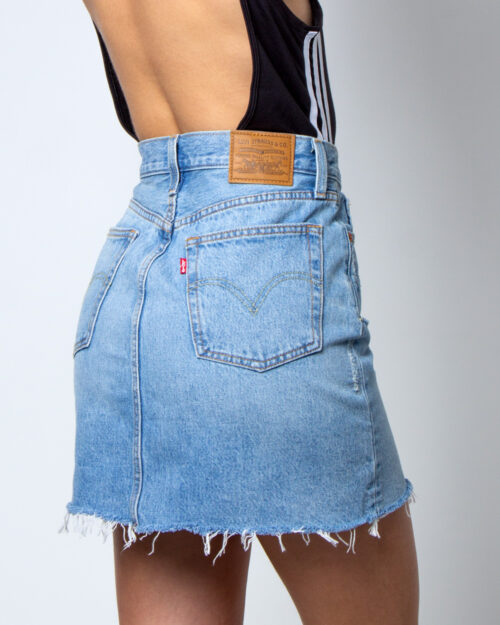 Minigonna Levi's® High Rise Deconstructed Skirt Denim chiaro – 42377