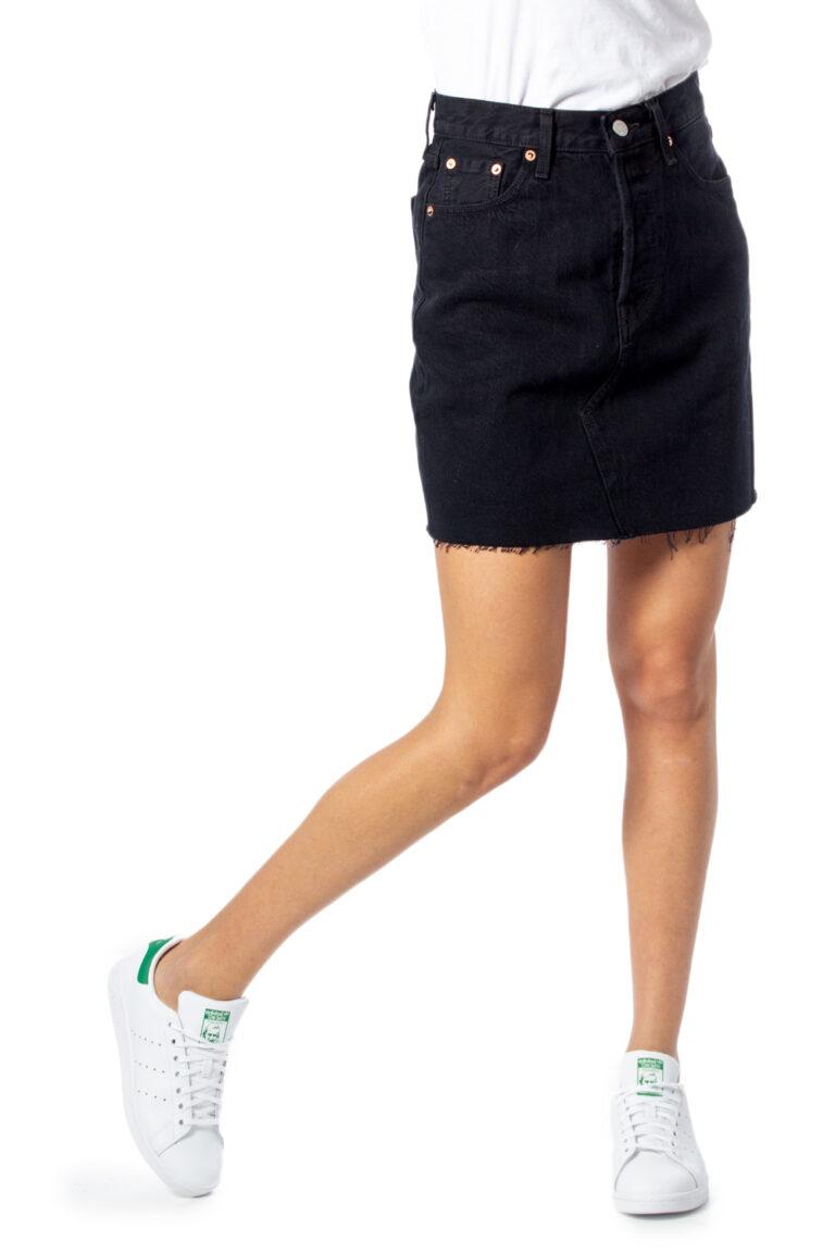 Minigonna Levi's® Hr Decon Iconic BF Skirt Nero - Foto 1