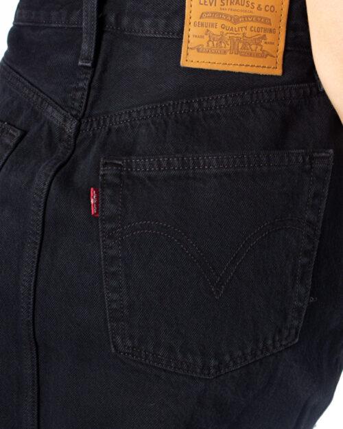 Minigonna Levi's® Hr Decon Iconic BF Skirt Nero - Foto 3