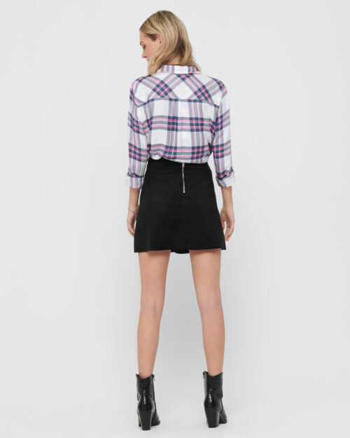 Minigonna Only Linea Faux Suede Bonded Skirt Nero – 52736