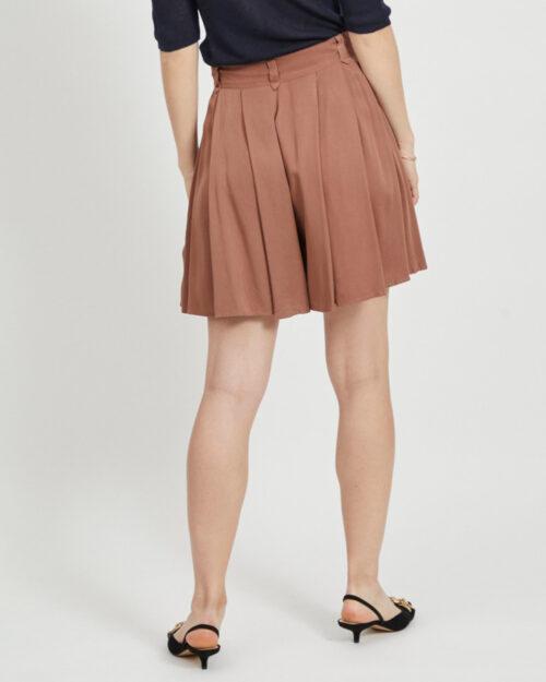 Minigonna Vila Clothes SUVITA HWRX SHORTS/DES/SU Marrone – 45332