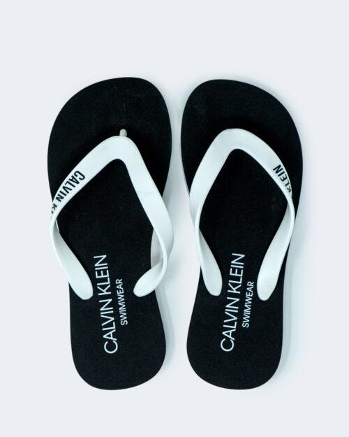 Infradito Calvin Klein Jeans FF SANDALS Bianco - Foto 1