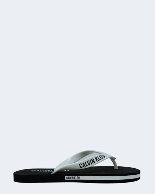 Infradito Calvin Klein Jeans FF SANDALS Bianco - Foto 2