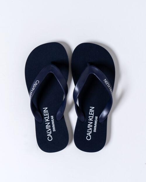 Infradito Calvin Klein FF SANDALS UNISEX Blue scuro – 40746