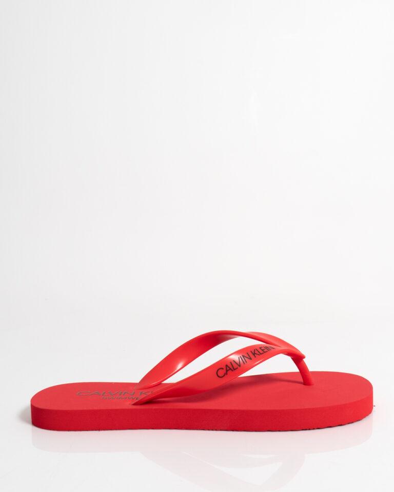 Infradito Calvin Klein Jeans FF SANDALS UNISEX Rosso - Foto 1