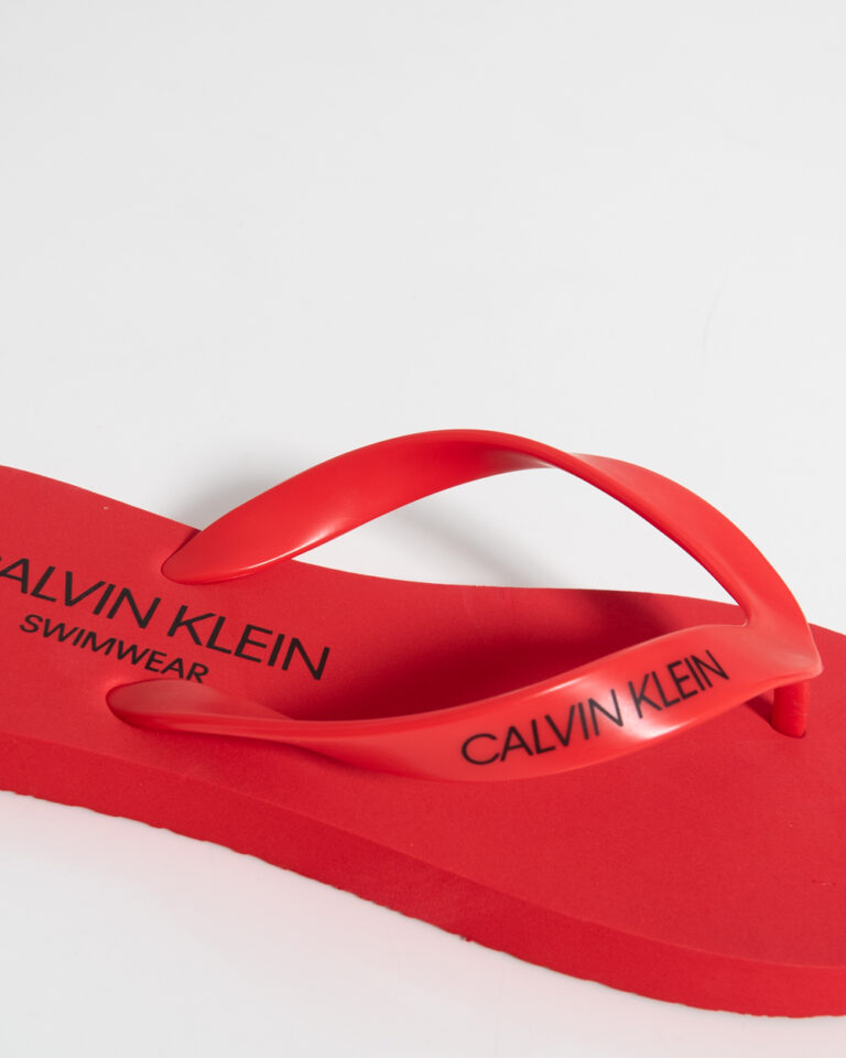 Infradito Calvin Klein Jeans FF SANDALS UNISEX Rosso - Foto 2