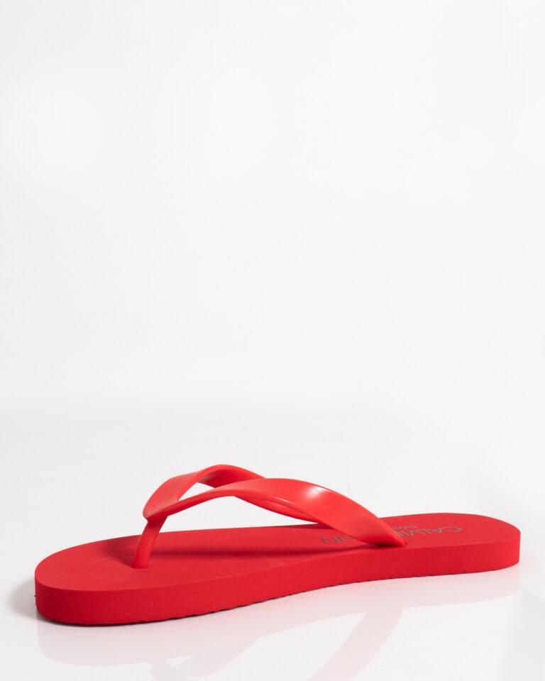 Infradito Calvin Klein Jeans FF SANDALS UNISEX Rosso - Foto 3