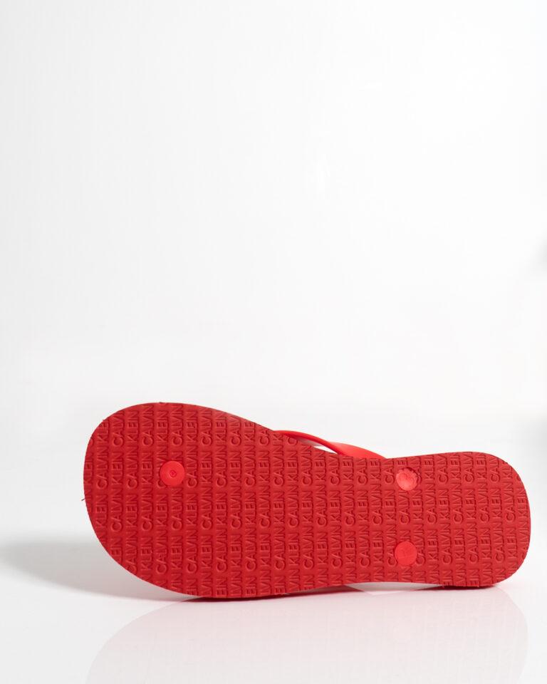 Infradito Calvin Klein Jeans FF SANDALS UNISEX Rosso - Foto 4