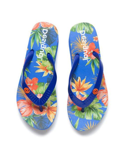 Infradito Desigual Shoes lola tropical Azzurro – 44229