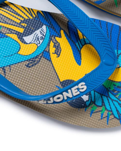 Infradito Jack Jones PRINT ANIMAL PACK FLIP FLOP Azzurro – 42092