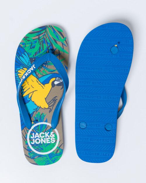 Infradito Jack Jones PRINT ANIMAL PACK FLIP FLOP Azzurro - Foto 3