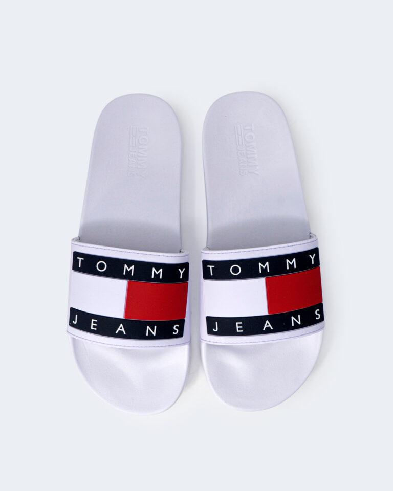 Ciabatte Tommy Hilfiger Jeans FLAG POO Bianco - Foto 2