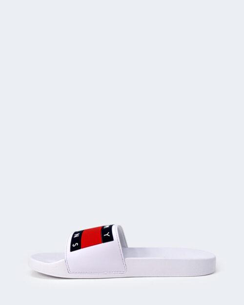 Ciabatte Tommy Hilfiger Jeans FLAG POO Bianco - Foto 3