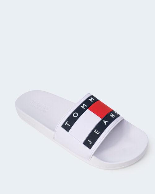 Ciabatte Tommy Hilfiger Jeans FLAG POO Bianco - Foto 4