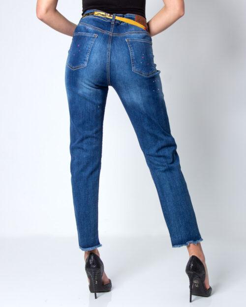 Jeans slim Desigual Denim Rainbow Blue Denim Scuro – 42200
