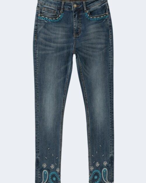 Jeans skinny Desigual ANKLE PAISLEY Denim scuro – 66338