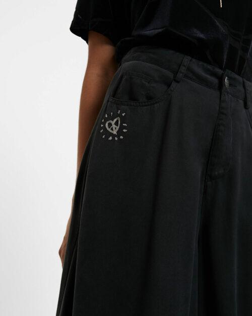 Pantaloni a palazzo Desigual DENIM SUPER WIDE LEG Grigio Scuro - Foto 4