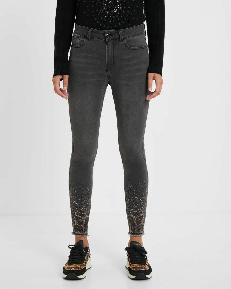 Jeans skinny Desigual Denim Shelley Grigio Scuro - Foto 1