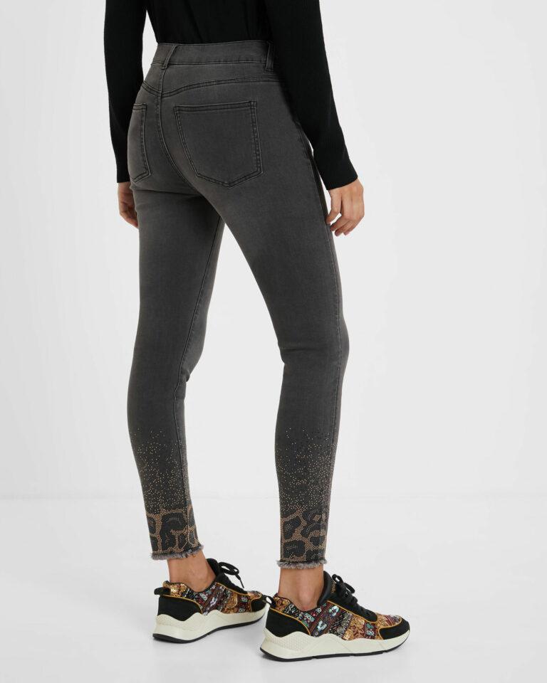 Jeans skinny Desigual Denim Shelley Grigio Scuro - Foto 2