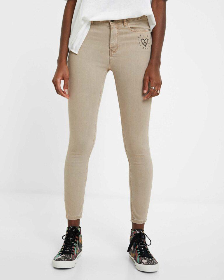 Jeans skinny Desigual Denim Alba Marrone - Foto 1