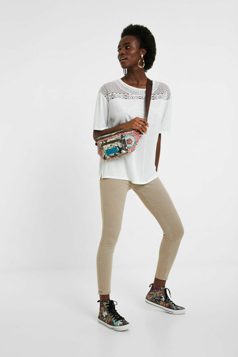 Jeans skinny Desigual Denim Alba Marrone - Foto 2